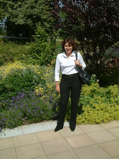 Moira in the gardens of Bellahouston Park